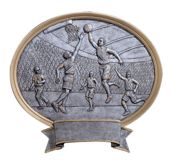 "6"" & 8"" Basketball Resin Oval Figures"
