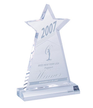 Acrylic Star Obelisk Awards
