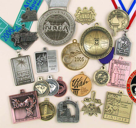 Custom Die Cast Medals without Color