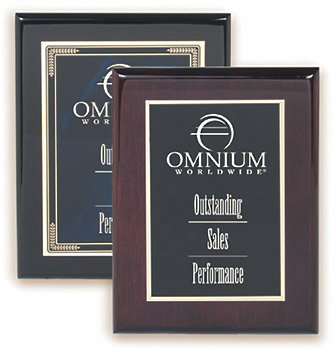 Piano Finish Plaques (Black or Rosewood)