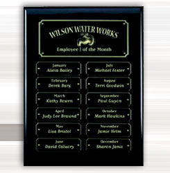 Piano Finish Perpetual Plaques