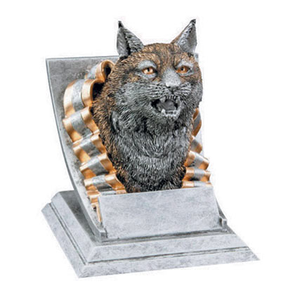 Resin Bobcat Mascot Trophies