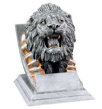 Resin Lion Mascot Trophies