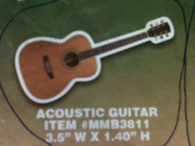 Acoustic Guitar Thin Stock Magnet GM-MMB3811