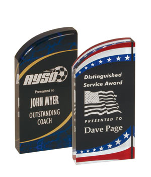 Acrylic Rounded Marble or Stars & Stripes Awards