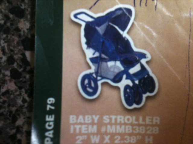 Baby Stroller Thin Stock Magnet