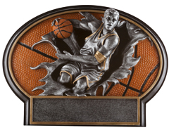 Basketball Male Burst Thru Resin Figures