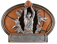 Basketball Female Burst Thru Resin Figures