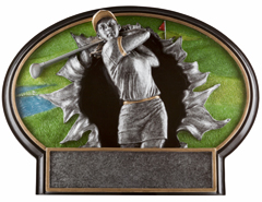Golf Female Burst Thru Resin Figures