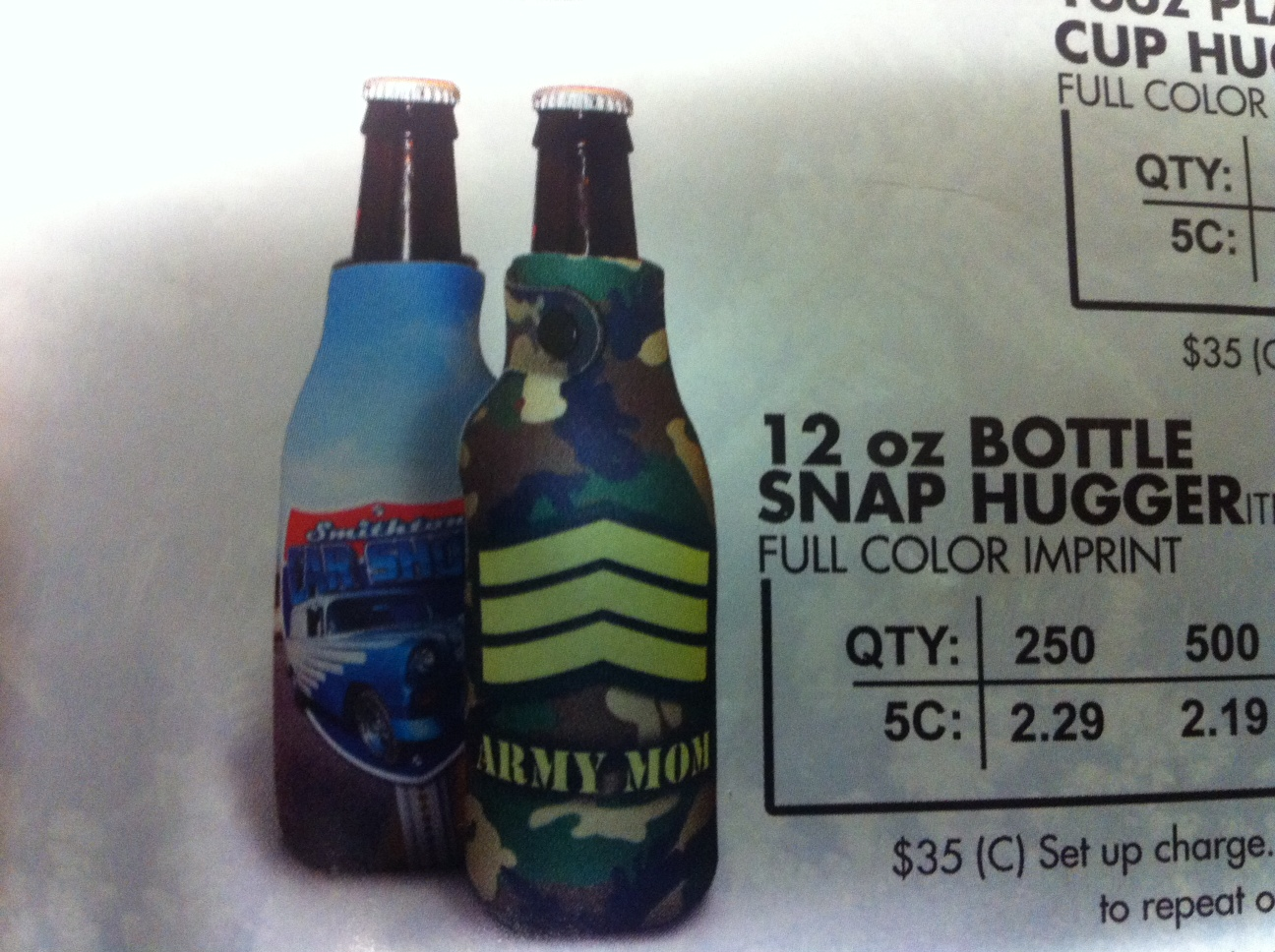 12oz Bottle Snap Sublimated Hugger GM-HGSS-12OZ