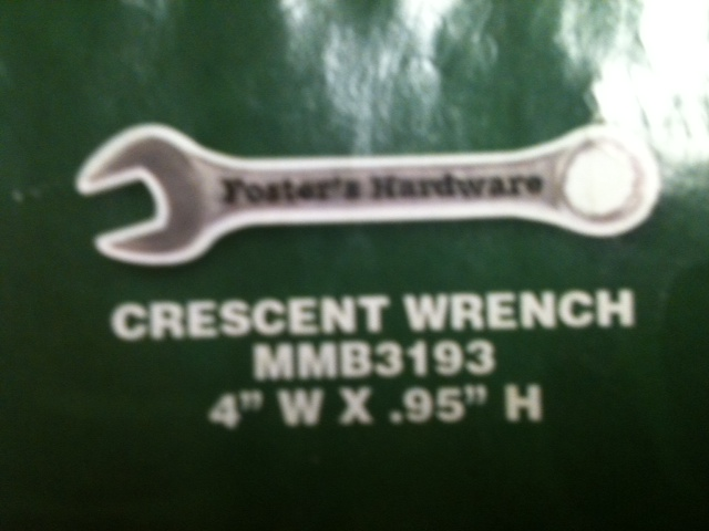 Crescent Wrench Thin Stock Magnet