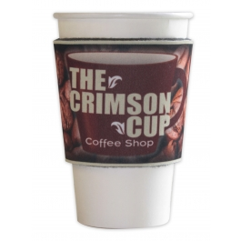 Coffee Sleeve Shaped Sublimated Hugger GM-HGSS-CES