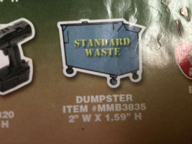 Dumpster Thin Stock Magnet
