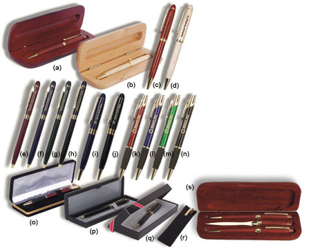 Engraved Pens & Pen Cases