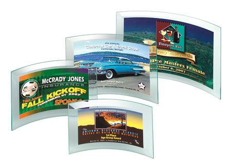 Curved Glass Awards (with Digital Color Prints)