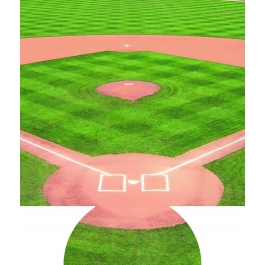 Baseball Diamond Sublimated Hugger GM-HGFC-BBD