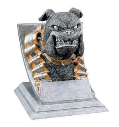 Resin Bulldog Mascot Trophies