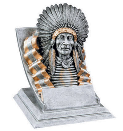 Resin Indian Mascot Trophies