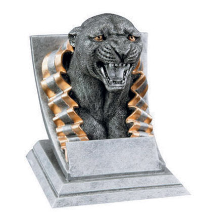 Resin Panther Mascot Trophies
