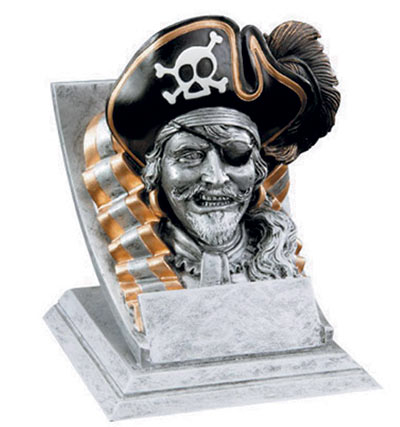 Resin Pirate Mascot Trophies